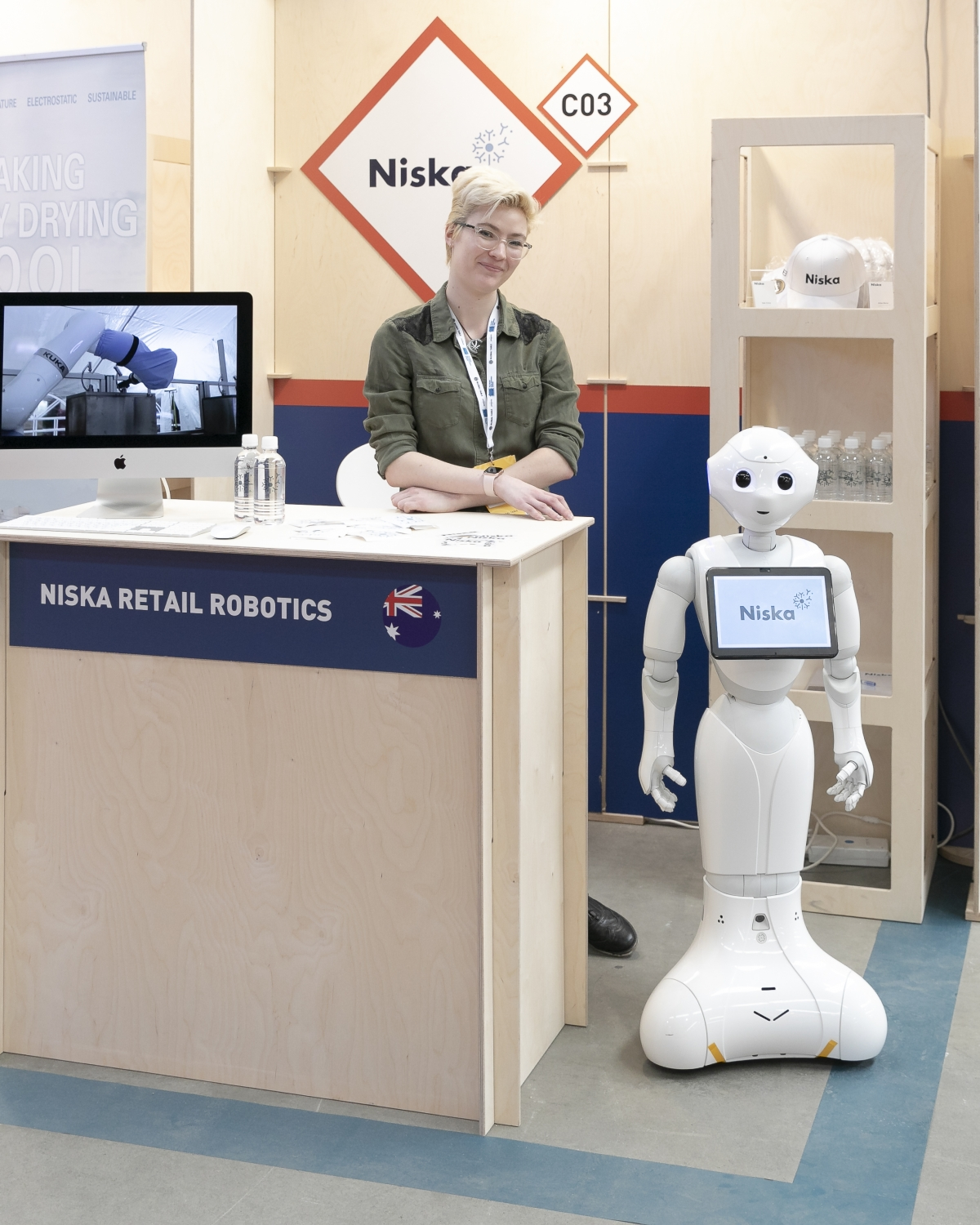 Niska Retail Robotics vendor in the Innovation Expo