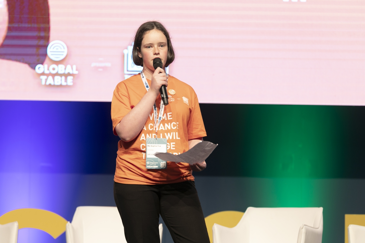 Sophie Fox, Teenovator at Global Table 2019